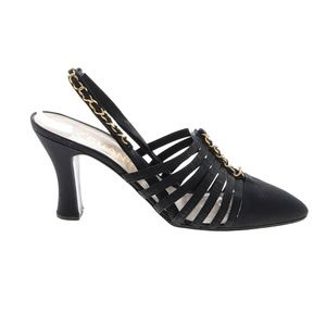 CHANEL Chain Link Pumps Size 38